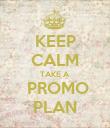 KEEP CALM TAKE A  PROMO PLAN - Personalised Poster large