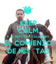 KEEP CALM & TE INVITO A CELEBRAR EL COMIENZO DE MIS ´TAS - Personalised Poster large