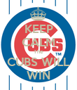 KEEP CALM The CUBS WILL WIN - Personalised Poster large