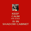 KEEP CALM THE DUCK IS IN SHADOW CABINET - Personalised Poster large