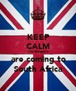 KEEP CALM The Magee's are coming to South Africa - Personalised Poster large