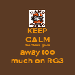 KEEP CALM the Skins gave away too much on RG3 - Personalised Poster large