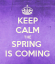 KEEP CALM THE SPRING  IS COMING - Personalised Poster large