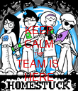 KEEP CALM THE TEAM IS  HERE - Personalised Poster large