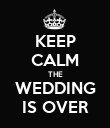 KEEP CALM THE WEDDING IS OVER - Personalised Poster large
