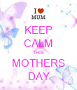 KEEP CALM THIS MOTHERS DAY - Personalised Poster large