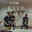 KEEP CALM to dance GANGNAM STYLE - Personalised Poster large