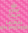 KEEP CALM Today is  LAURAs HEN WEEKEND! - Personalised Poster large