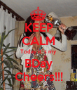 KEEP CALM Today it´s my BDay Cheers!!! - Personalised Poster small