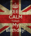 KEEP CALM Today's My Birthday! - Personalised Poster large