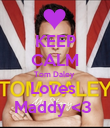 KEEP CALM Tom Daley  Loves  Maddy <3  - Personalised Poster large