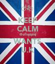 KEEP CALM @ufiqupiq WANTS U.K - Personalised Poster large