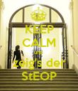 KEEP CALM und  zeig's der StEOP - Personalised Poster large