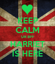 KEEP CALM UR BFF HARRIET IS HERE - Personalised Poster large