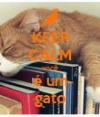 KEEP CALM você é um gato - Personalised Poster large