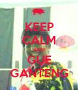 KEEP CALM walo GUE GANTENG - Personalised Poster large