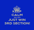 KEEP CALM WE DID JUST WIN 3RD SECTION! - Personalised Poster large