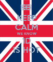 KEEP CALM WE KNOW 1D IS HOT - Personalised Poster large