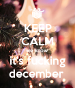 KEEP CALM we know  it's fucking december  - Personalised Poster large