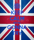 KEEP CALM WE'RE GONNA TRY - Personalised Poster large