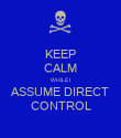 KEEP CALM WHILE I ASSUME DIRECT CONTROL - Personalised Poster large
