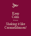 Keep Calm While Shaking it like Caramelldansen! - Personalised Large Wall Decal
