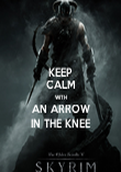 KEEP CALM WITH AN ARROW IN THE KNEE - Personalised Poster large