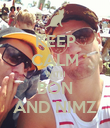 KEEP CALM WITH BON AND NIMZ - Personalised Poster large