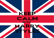 KEEP CALM WITH  HARRY STYLES - Personalised Poster large
