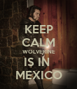 KEEP CALM WOLVERINE IS IN  MEXICO - Personalised Poster large
