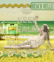 KEEP CALM Y ESCUCHA CALOR 90º - Personalised Poster large
