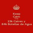 Keep Calm Ya Hay 23k Catres y 84k Botellas de Agua - Personalised Poster large
