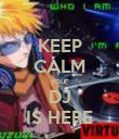 KEEP CALM your DJ IS HERE - Personalised Poster large