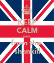 KEEP CALM your  from the  shankill - Personalised Poster large