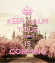 KEEP CALM YOUR PRINCE IS COMMING - Personalised Poster large