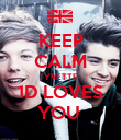 KEEP CALM YVETTE 1D LOVES YOU  - Personalised Poster large