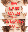 KEEP CALM Yvette, 1D LOVES YOU! - Personalised Poster large