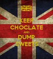KEEP CHOCLATE AND DUMP SWEETS - Personalised Poster large