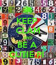 KEEP  CLAM AND BE A  CUTIE PI  - Personalised Poster large