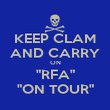 "KEEP CLAM AND CARRY ON ""RFA"" ""ON TOUR"" - Personalised Poster large"