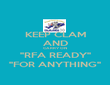"""KEEP CLAM AND CARRY ON """"RFA READY"""" """"FOR ANYTHING"""" - Personalised Poster large"""