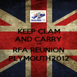 KEEP CLAM AND CARRY ON RFA REUNION PLYMOUTH2012 - Personalised Poster large