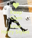 Keep Clam And Love  Harry Styles  - Personalised Poster large