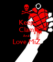 Keep Clam And  Love MiZ  - Personalised Poster large