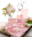 KEEP COOL AND CARRY ON - Personalised Poster large