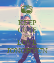 KEEP CUTE AND LOVE JONGHYUN - Personalised Poster large