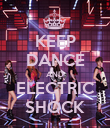 KEEP DANCE AND ELECTRIC SHOCK - Personalised Poster large