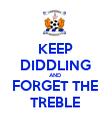 KEEP DIDDLING AND FORGET THE TREBLE - Personalised Poster large