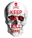 KEEP HATE AND KILL Y**I  - Personalised Poster small