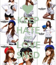 KEEP HATE AND LOVE SNSD - Personalised Poster large